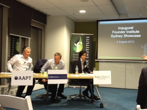 Our panel of judges at the Inaugural Sydney Founder Showcase