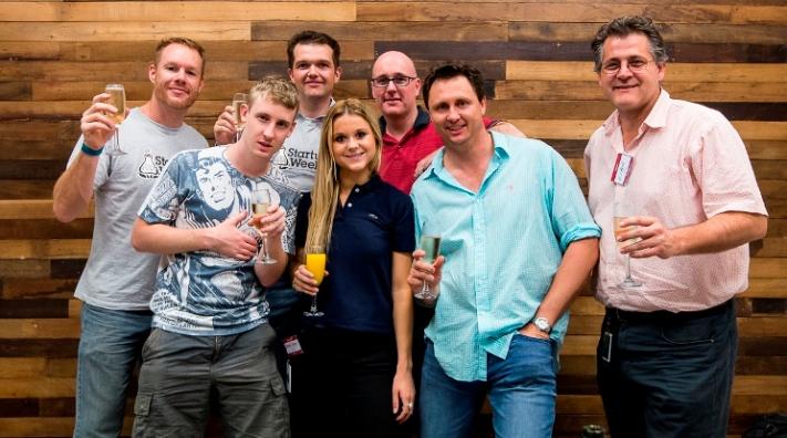 The iConnect Catering Team: Naomi Henn, Jay Whiting, Evan Nunn, Brendan Glynn, David Daws, Mike Weaver, John Kelly, Peck Kong